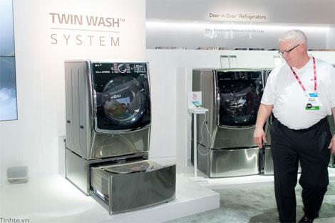 LG giới thiệu sản phẩm máy giặt mang tên hệ thống Twin Wash