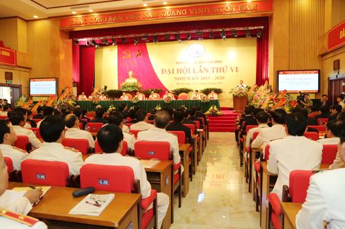 Quang cảnh Đại hội Đảng bộ Công an Trung ương lần thứ VI.