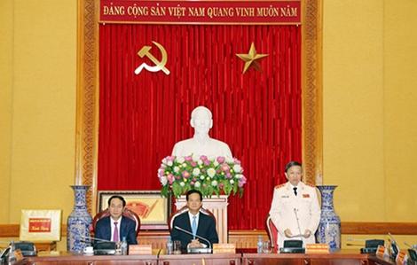 Đảng ủy Công an trung ương và lãnh đạo Bộ Công an gặp mặt nguyên Thủ tướng Nguyễn Tấn Dũng