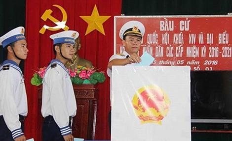 Bầu cử sớm trên các đảo ở huyện Trường Sa