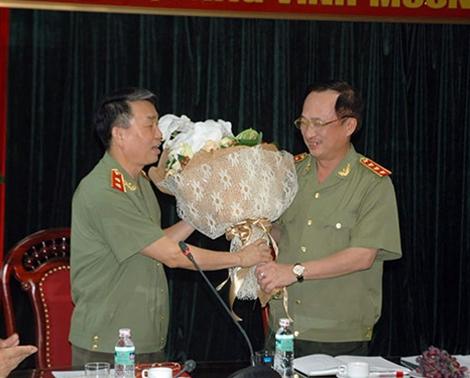 Thứ trưởng Nguyễn Văn Thành làm việc với Tổng cục Chính trị CAND