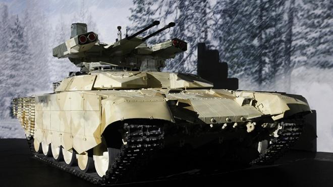 Siêu xe chiến đấu Terminator của Quân đội Nga. Ảnh: Interfax