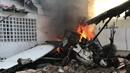 Máy bay đâm vào nhà dân ở Venezuela bốc cháy, 1 người chết