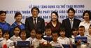 Mizuno trao tặng bộ dụng cụ thể chất cho Việt Nam