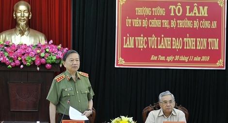 Công an Kon Tum hoàn thiện phương án bố trí Công an chính quy đảm nhiệm chức danh Công an xã
