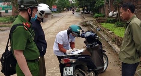 CA huyện Bình Xuyên triển khai nghiêm túc các biện pháp phòng chống dịch
