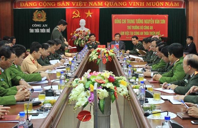 Đoàn công tác Bộ Công an thăm, làm việc tại Công an tỉnh Thừa Thiên - Huế - Ảnh minh hoạ 4
