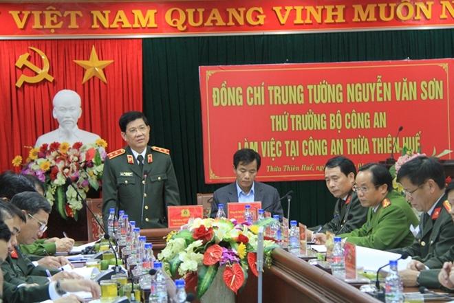 Đoàn công tác Bộ Công an thăm, làm việc tại Công an tỉnh Thừa Thiên - Huế - Ảnh minh hoạ 3