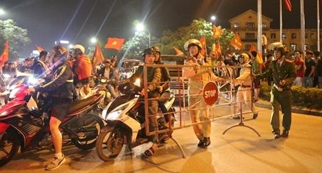 Công an tỉnh Thừa Thiên Huế chủ động phương án đảm bảo ANTT, ATGT trong trận chung kết lịch sử