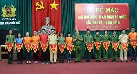 Công an tỉnh Thừa Thiên - Huế bế mạc Đại hội khỏe Vì ANTQ