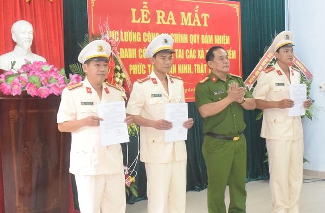 Công an tỉnh Thừa Thiên - Huế điều động Công an chính quy đảm nhiệm chức danh Công an xã
