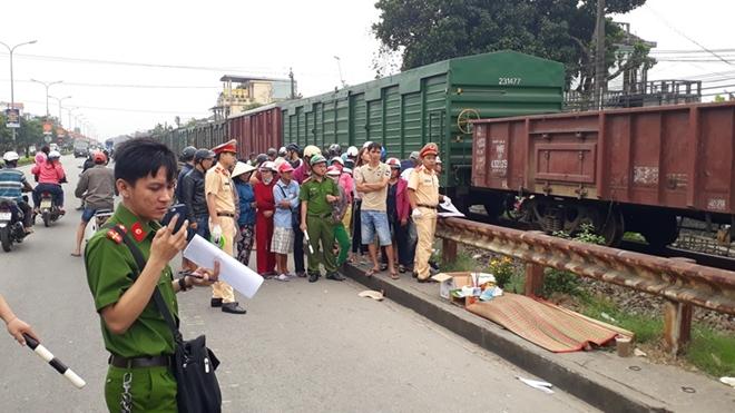 Hiện trường vụ TNGT đường sắt khiến ông N. tử vong.