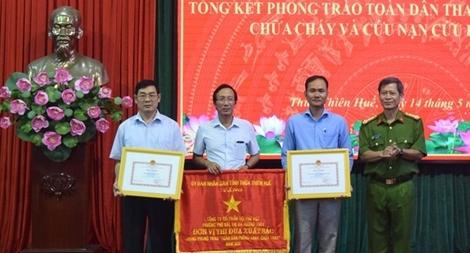Nhiều tập thể, cá nhân ở Thừa Thiên – Huế đạt thành tích trong PCCC và CNCH