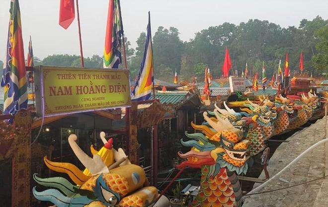 CSGT đường thủy đảm bảo an toàn lễ hội Điện Huệ Nam