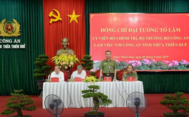 Bộ trưởng Tô Lâm làm việc với Công an tỉnh Thừa Thiên Huế - Ảnh minh hoạ 2