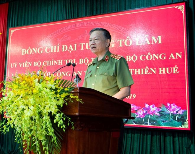 Bộ trưởng Tô Lâm làm việc với Công an tỉnh Thừa Thiên Huế - Ảnh minh hoạ 3