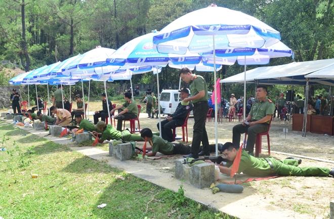 Hơn 400 VĐV tranh tài Chiến sĩ Công an khỏe và bắn súng quân dụng