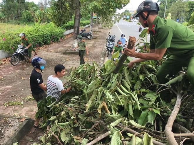 Công an các phường ở TP Huế nỗ lực dọn cây xanh gãy đổ sau bão - Ảnh minh hoạ 8