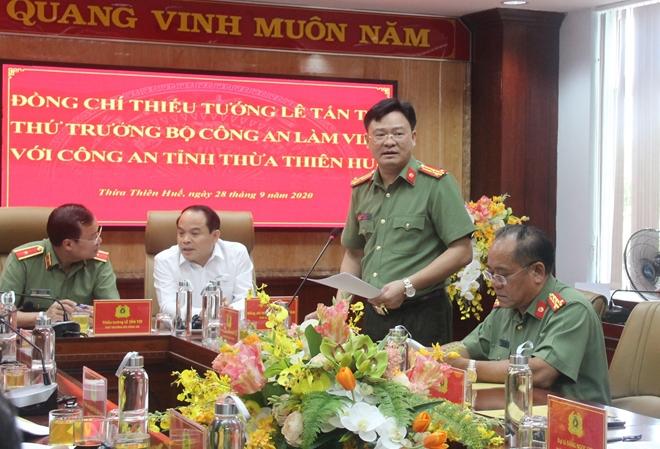 Thứ trưởng Lê Tấn Tới làm việc với Công an tỉnh Thừa Thiên Huế - Ảnh minh hoạ 2