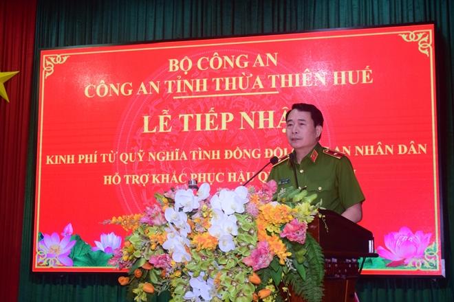 Quỹ Nghĩa tình đồng đội ủng hộ nhân dân và Công an Thừa Thiên Huế  3 tỷ đồng