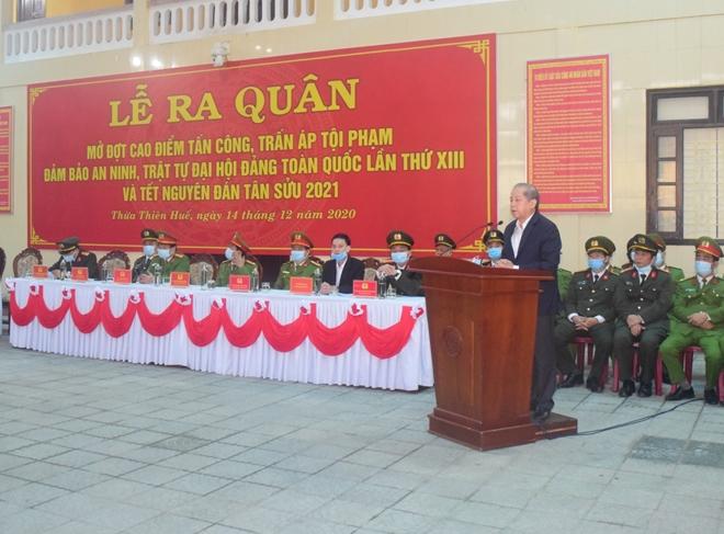Công an tỉnh Thừa Thiên Huế ra quân tấn công, trấn áp tội phạm