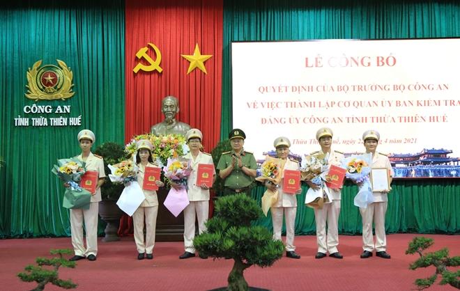 Thành lập cơ quan Ủy ban kiểm tra Đảng ủy Công an tỉnh Thừa Thiên Huế
