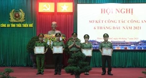 Công an tỉnh Thừa Thiên Huế sơ kết công tác 6 tháng đầu năm 2021