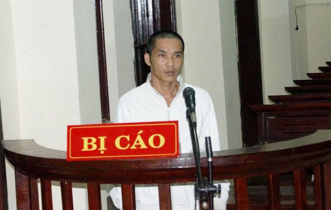 Đối tượng Nguyễn Đức Thành tại phiên tòa.