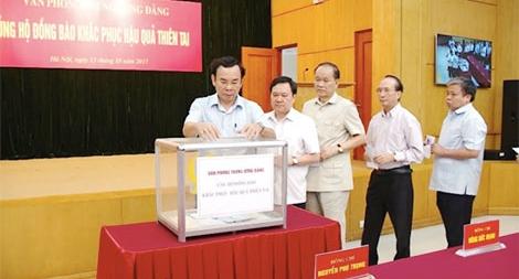 Văn phòng Trung ương Đảng quyên góp ủng hộ đồng bào khắc phục hậu quả thiên tai