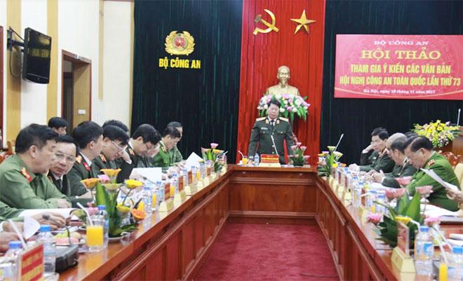 Hội thảo tham gia ý kiến các văn bản Hội nghị Công an toàn quốc lần thứ 73
