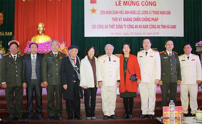 Đội Công an Thiết Dũng đã đi vào lịch sử hào hùng trên quê hương Hà Nam