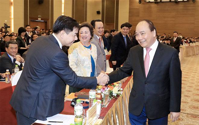 Thủ tướng dự Hội nghị gặp mặt các nhà đầu tư lần thứ 10 của tỉnh Nghệ An. Ảnh: VGP/Quang Hiếu