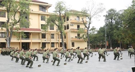 Học viện ANND tổ chức Hội thi điều lệnh, võ thuật