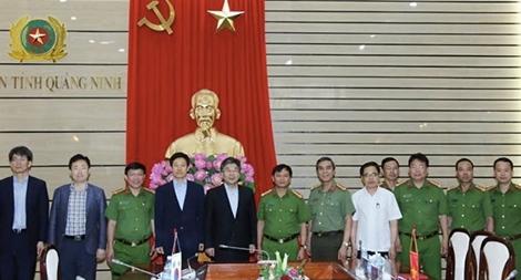 Đoàn Cảnh sát quốc gia Hàn Quốc thăm và làm việc với Công an Quảng Ninh