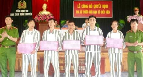 Tha tù trước thời hạn có điều kiện cho 39 phạm nhân tại Trại giam Xuân Nguyên