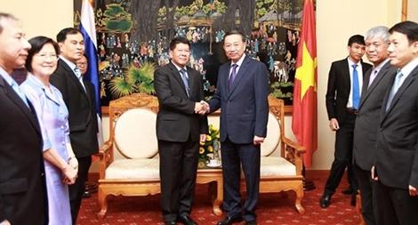 Bộ trưởng Tô Lâm tiếp Tổng Thư ký Hội đồng An ninh Quốc gia Thái Lan