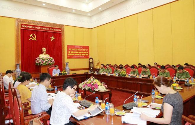 Bộ Công an họp Ban Soạn thảo, Tổ Biên tập xây dựng các văn bản hướng dẫn thi hành Luật An ninh mạng - Ảnh minh hoạ 3