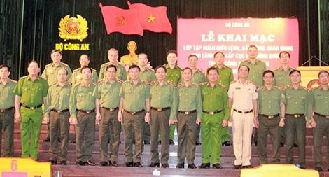 Tập huấn điều lệnh, quân sự, võ thuật cho lãnh đạo cấp Cục, lãnh đạo Công an các địa phương