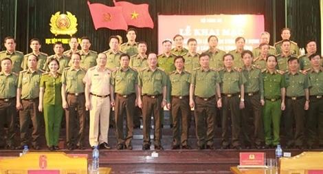 Nâng cao công tác điều lệnh, quân sự, võ thuật cho lãnh đạo cấp Cục, lãnh đạo Công an các địa phương