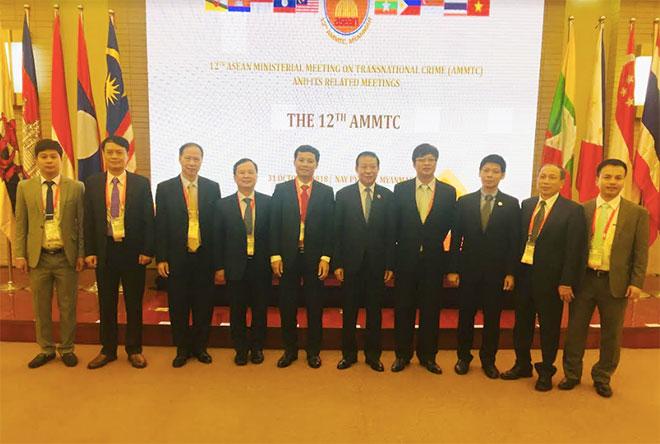Đoàn đại biểu Việt Nam dự Hội nghị Bộ trưởng ASEAN về Phòng, chống tội phạm xuyên quốc gia lần thứ 12 và các Hội nghị liên quan tại Myanmar