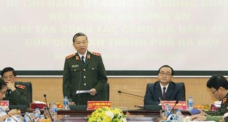 Đoàn kiểm tra Bộ Công an kiểm tra công tác tại Công an TP Hà Nội