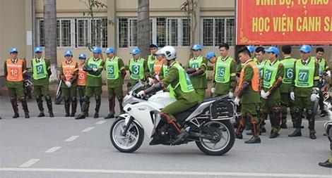 Hội thi lái xe an toàn Học viện CSND