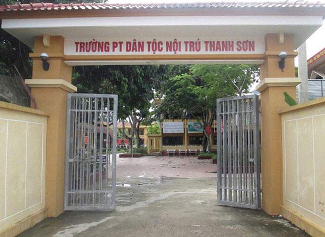 Trường Dân tộc nội trú THCS huyện Thanh Sơn (Phú Thọ), nơi xảy ra sự việc đáng tiếc. Ảnh minh họa.