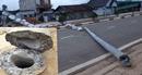 Trụ bê tông vào Langbiang gãy bất thường