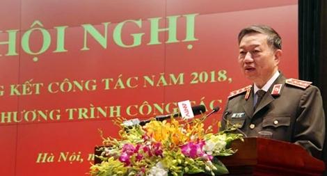 Bộ trưởng Tô Lâm dự triển khai công tác năm 2019 của Văn phòng Bộ Công an
