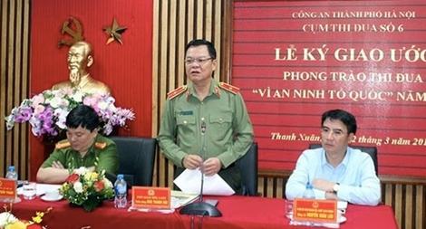 Cụm thi đua số 6 - Công an TP Hà Nội ký kết giao ước thi đua
