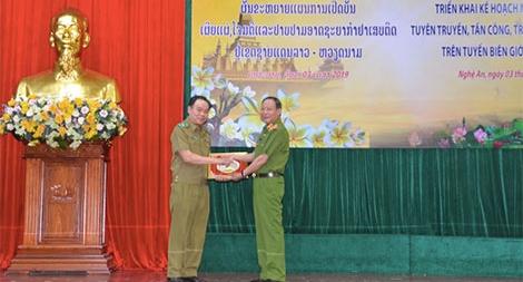 Mở đợt cao điểm tấn công, trấn áp tội phạm ma túy tuyến biên giới Việt - Lào
