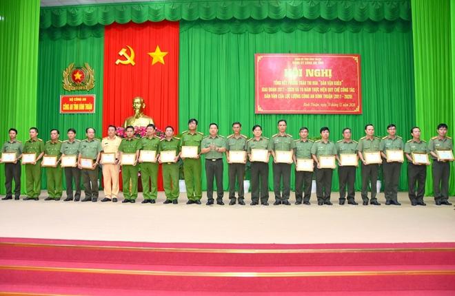 """Công an tỉnh Bình Thuận tổng kết phong trào thi đua """"Dân vận khéo"""""""