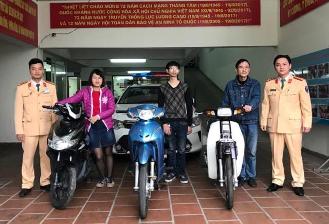 Công an Hà Nội trao trả xe bị mất cắp từ Cao Bằng lưu thông xuống Thủ đô