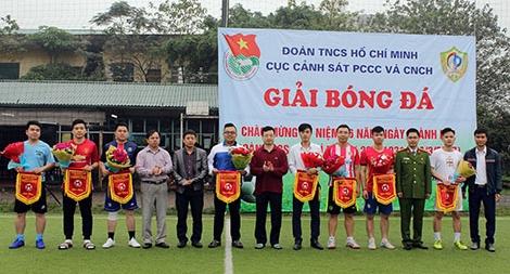 Khai mạc Giải bóng đá Cục Cảnh sát PCCC và CNCH